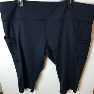 Athleta Navy Capris with mesh. Size 2X.